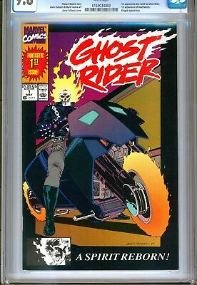CGC 9.8-GHOST RIDER v2 #1(5/90)'1st DANNY KETCH & 1st DEATHWATCH'(KINGPIN)RARE!!