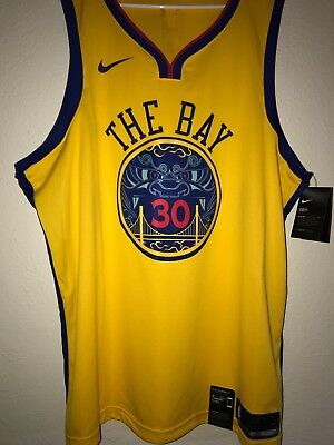 5993186a0 BNWT Nike Stephen Curry NBA Swingman Jersey Chinese New Year NEW MENS Size  XXL