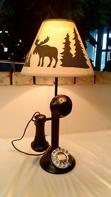 Rare Vintage Automatic Electric Candlestick phone Lamp