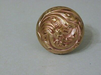 Vintage Fancy Ornate Brass Door Knob