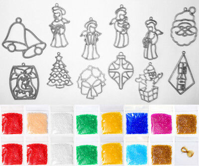 Makit & And Bakit Stained Glass 12 Piece Christmas Ornament Kit 5 – Mini Frames