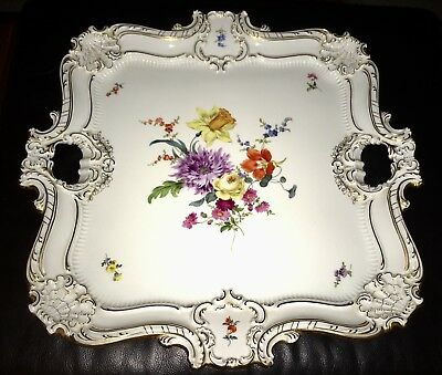 ⭐️⭐️⭐️Museum Quality MEISSEN Showpiece c.1852-1870 ⭐️Gilded LARGE Display TRAY⭐️