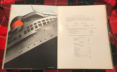 CGT French Line SS Normandie Paquebot Jan Auvigne Green Book Brochure en anglais