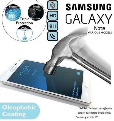 Genuine Tempered Glass Screen Protector for Samsung Galaxy Note 4/3/2/Edge/3 Neo