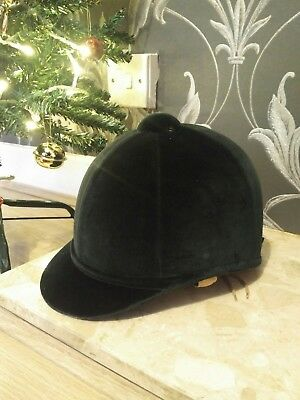 Charles Owen Fiona's Riding Hat  Leather Harness Riding Helmet 6 3/4 55