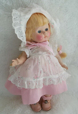 "Vogue Strung Transitional Ginny Doll Early 1950 ""Debby"" in Pink"