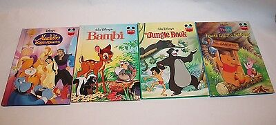 Walt Disney's Wonderful World of Reading Picture Book Lot of 4  Hardcover Books