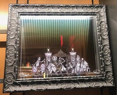 """Disney Parks Haunted Mansion Hitchhiking Ghosts Framed Mirror New 25"""" x 21"""""""
