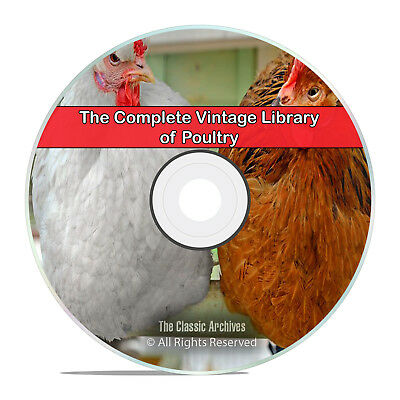 200 Books Library of Poultry, Chickens, Farming, Raise, Fowl, Squab, DVD H81