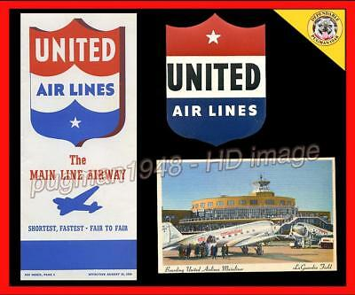 UNITED AIRLINES 1939 AIRLINE TIMETABLE SCHEDULE...Plus 2 United Airlines Extras
