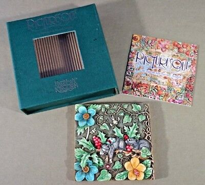 Two Blind Mice Harmony Kingdom Picturesque Byrons Secret Garden collectible tile