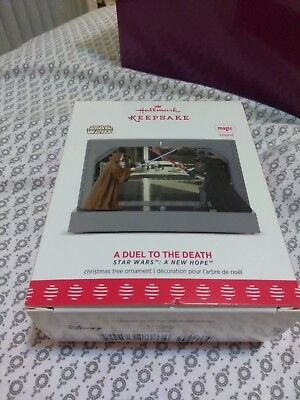 2017 Hallmark Keepsake Star Wars A Duel To The Death A New Hope Ornament NIB