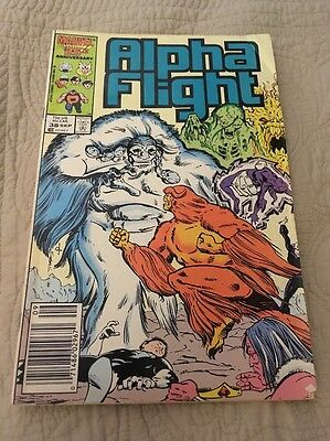 Alpha Flight # 38 Nov 1986 Marvel Comic X-men Wolverine Good Condition!