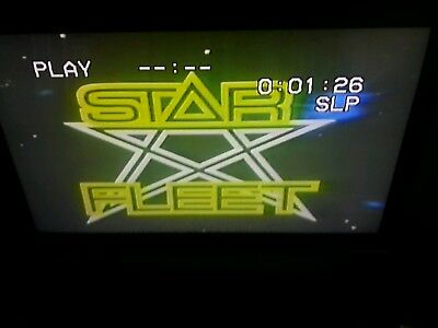 Maxell T-120 Used Sold As Blank VHS Tape Star Fleet Los Luchadores Fox Kids