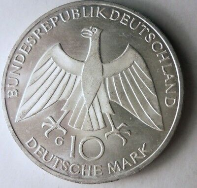 1972 GERMANY 10 MARK - UNCOMMON Coin - BIG Value Silver Coin - Lot #D16