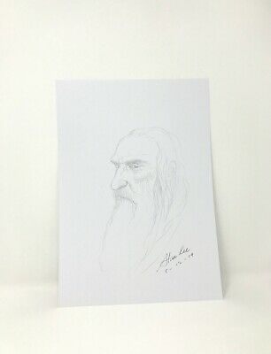 Rare Signed & Dated Sketch Drawing by Alan Lee - 'Gandalf' The Lord Of The Rings