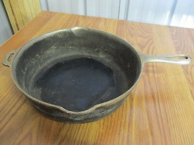 Vintage Antique Griswold Frying Pan Chicken Fryer Cast Iron 10 1/2 Signed Erie