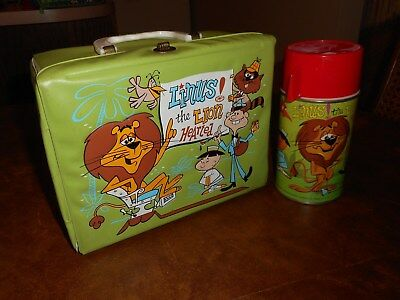 Vintage Metal  Linus the Lion Lunchbox & Thermos