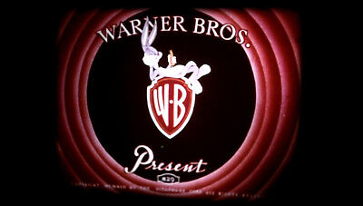 16mm Warner Bros Cartoon CASE OF THE MISSING HARE (1942) Bugs Bunny Low Fade !