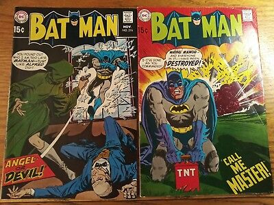 Batman #215 and #216. Two Book Lot.