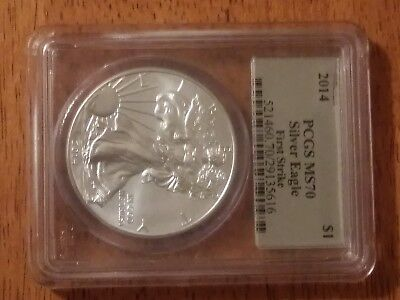 2014 Silver American Eagle PCGS MS70 First Strike Silver Foil Label