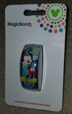NEW Disney Parks Mickey Mouse It's My Birthday Magic Band 2 LINKABLE