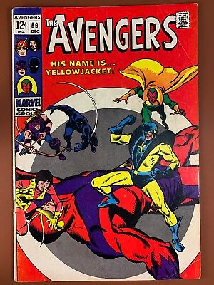 Avengers #59 (1968 Marvel) 1st appearance Yellowjacket Silver Age NO RESERVE