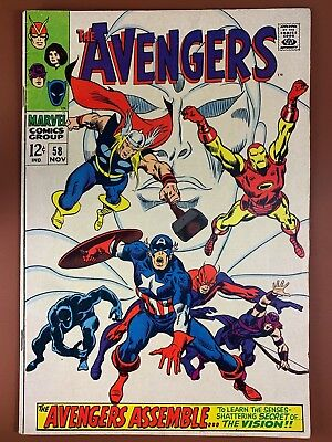 Avengers #58 (1968 Marvel) The Vision Origin Silver Age NO RESERVE