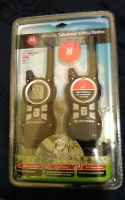 2 Pack Motorola MR350R Talkabout Two Way Radios FRS GMRS 22 Channel 35 miles