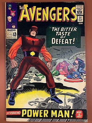 Avengers #21 (1966 Marvel) Power Man appearance Silver Age NO RESERVE