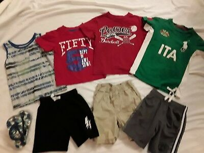 8 Pc Lot Of Toddler Boys Clothes Size 4T Outfits Tops Pants Shirts 4 Little Boy