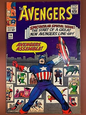Avengers #16 (1965 Marvel) Hawkeye Quicksilver Scarlet Witch join team