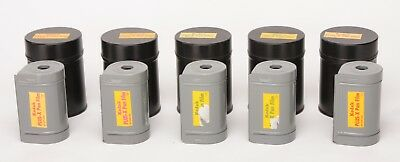 70mm Empty Film Cassettes - 5 each with strorage cans - Fits Hassleblad back