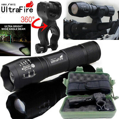 Ultrafire Flashlight 60000LM T6 LED Light Tactical 18650&Torch Holder Bicycle
