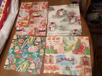 Vintage Christmas Gift/Flat Wrap - New - Lot of 7 - Beautiful