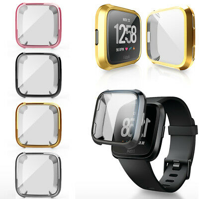 For Fitbit Versa Bands Fitness Slim Sleeve Case Plating Protective Soft Cover