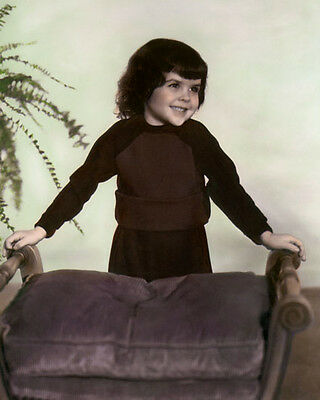 """DARLA JEAN HOOD THE LITTLE RASCALS OUR GANG 8x10"""" HAND COLOR TINTED PHOTOGRAPH"""