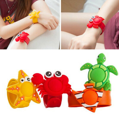 24FE Waterproof Anti Mosquito Bug Repellent Cartoon Wristband Crab Silicone