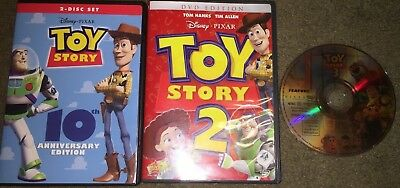 Toy Story Complete Trilogy DVD Bundle Set Movies 1, 2 and 3 (Disc Only)