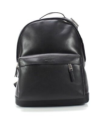 c64063a87f73 Michael Kors NEW Black Silver Men s Odin Smooth Leather Backpack  398- 467