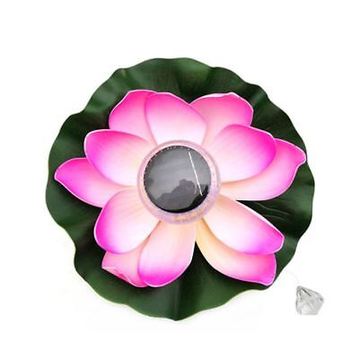Colorful Solar Powered LED Pond Pool Lamps Floating Lotus Flower Night light