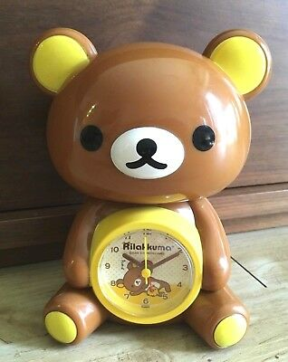 Rilakkuma 3D Alarm Clock AA battery Cute Figures New San-x KAWAII JAPAN 2009
