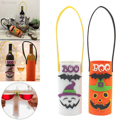 1CF0 Lovely Wine Bottle Bag Gift Bag Halloween Party Stack Bag Non-Woven Fabric