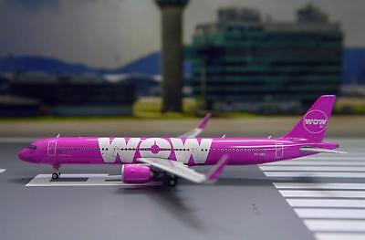 Phoenix 1/400 Diecast Aircraft Model Airbus A321neo, WOW Air,11415