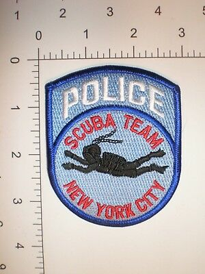NY New York City Police Dept NYPD NYC patch SCUBA DIVER Underwater TEAM