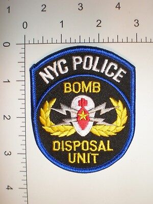 New York City Police Dept NYPD NYC patch EOD Bomb Disposal Explosives unit