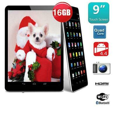 9″ Inch Android Tablet 16GB Quad Core 4.4 Dual Camera Bluetooth Wifi Tablet UK
