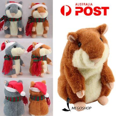 Christmas Pet Talking Hamster Plush Animal Toy Electronic Hamster Mouse WM