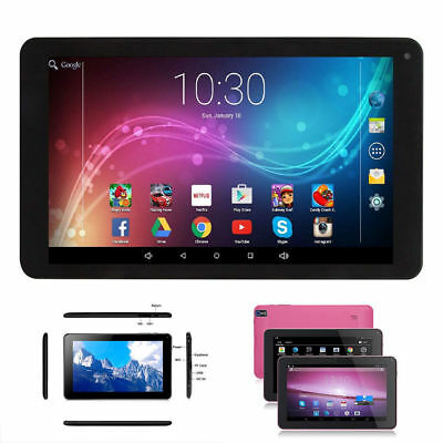 """9"""" inch Google Tablet PC Android A33 Quad Core 512+ 8GB Dual Camera 2018 Black"""