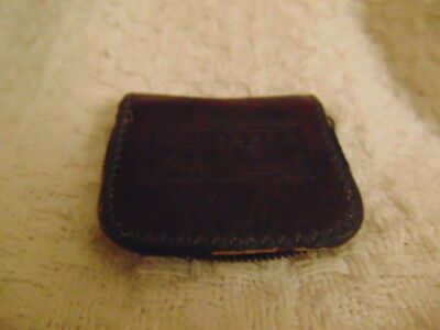Dahlberg Hearing Instruments Vintage Antique Leather Case with side zipper